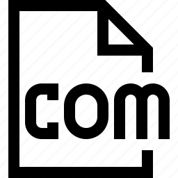 com, document, file icon
