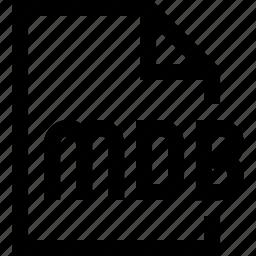 document, file, mdb icon
