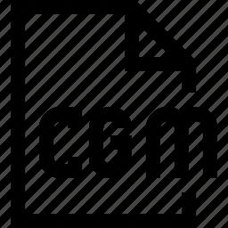 cgm, document, file icon
