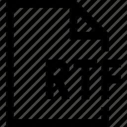 document, file, rtf icon