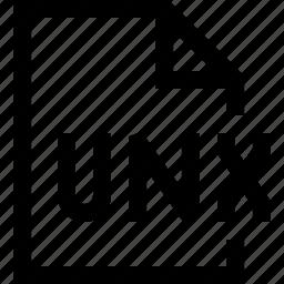 document, file, unx icon