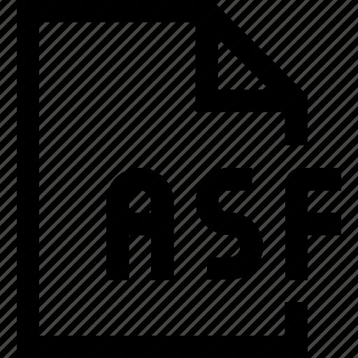 asf, document, file icon