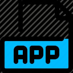 app, file, format icon