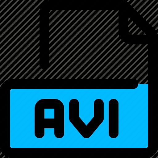 avi, file, format, video icon
