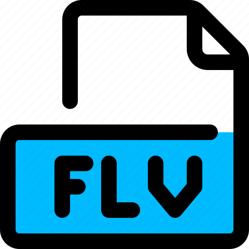 file, flv, format, video icon