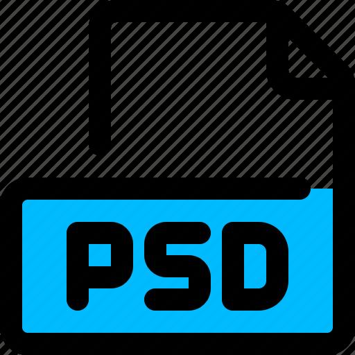 file, filetype, photoshop, psd icon