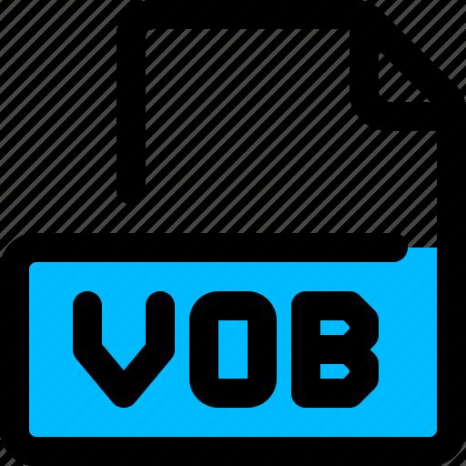 file, format, video, vob icon