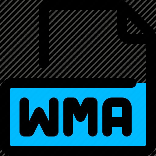 audio, file, format, wma icon