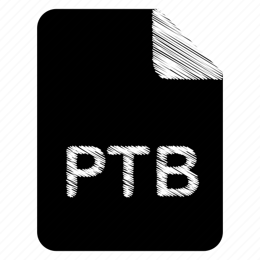 document, file, format, ptb, type icon
