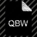 document, file, format, qbw, type icon