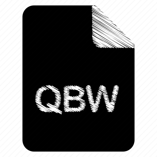 document, file, format, qbw, type icon