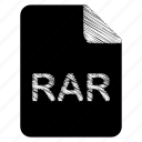 document, file, format, rar, type icon