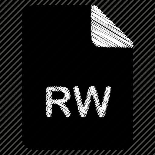 document, file, format, rw, type icon