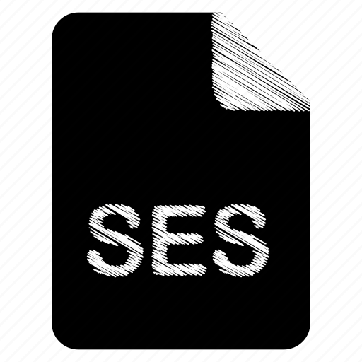 document, file, format, ses, type icon