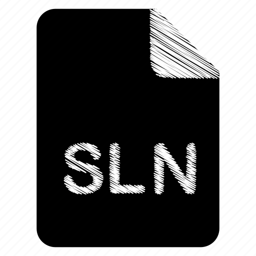 document, file, format, sln, type icon