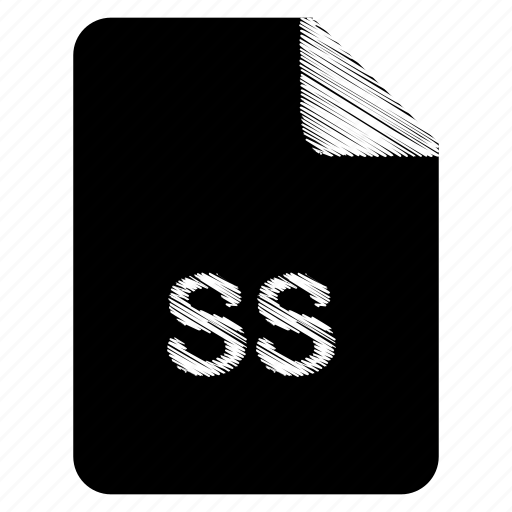 document, file, format, ss, type icon