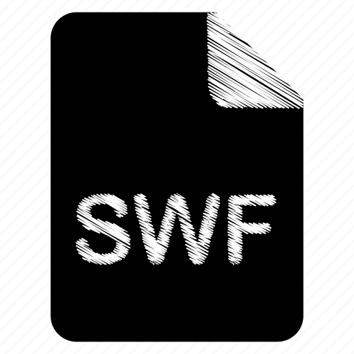 document, file, format, swf, type icon