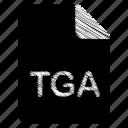 document, file, format, tga, type icon