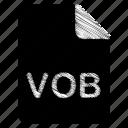 document, file, format, type, vob icon