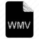 document, file, format, type, wmv icon