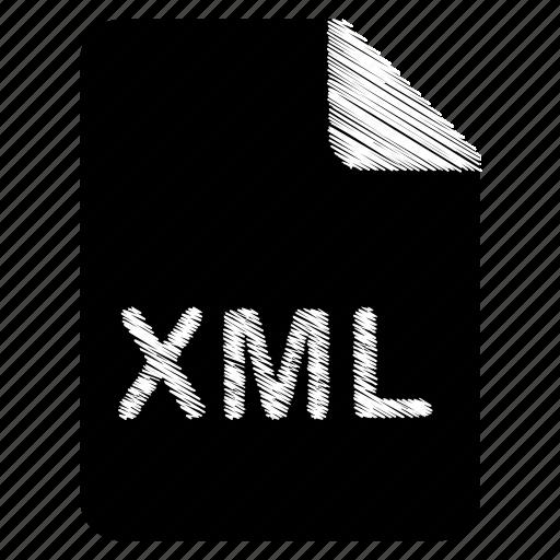 document, file, format, type, xml icon