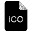 document, file, format, ico, type icon