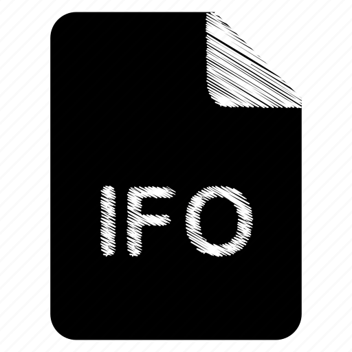 document, file, format, ifo, type icon
