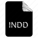 document, file, format, indd, type icon