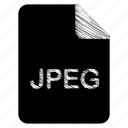 document, file, format, jpeg, type icon
