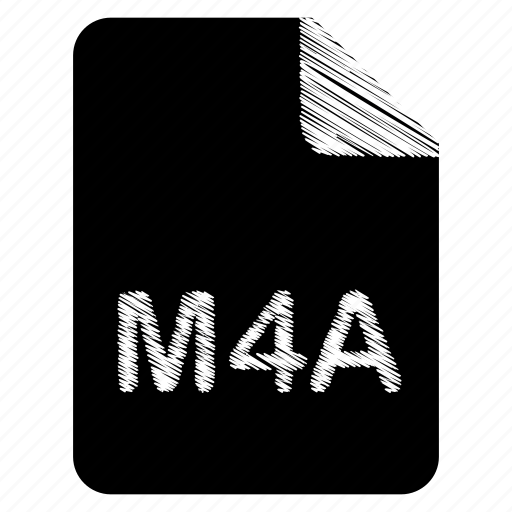 document, file, format, m4a, type icon