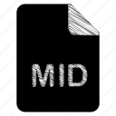 document, file, format, mid, type icon