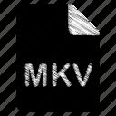 document, file, format, mkv, type icon