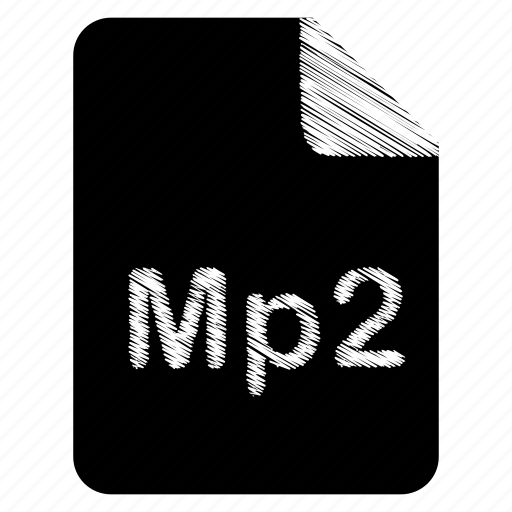 document, file, format, mp2, type icon