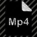 document, file, mp4