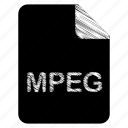 document, file, mpeg icon