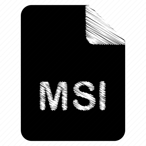 document, file, format, msi, type icon