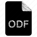 document, file, format, odf, type icon