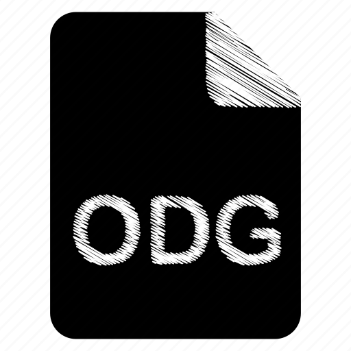 document, file, format, odg, type icon