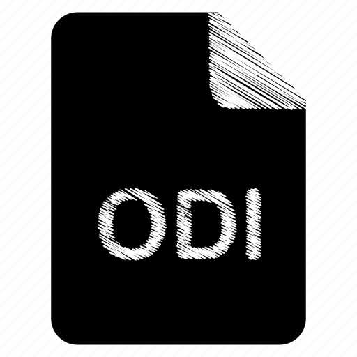 document, file, format, odi, type icon