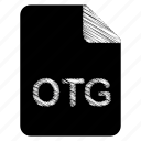 document, file, format, otg, type icon