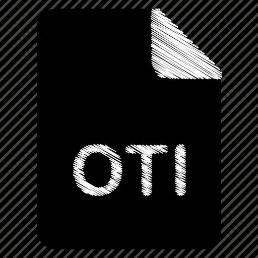 document, file, format, oti, type icon
