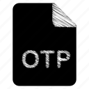 document, file, format, otp, type icon