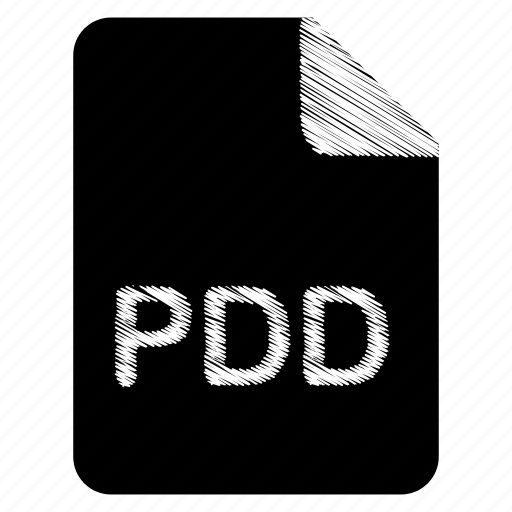 document, file, format, pdd, type icon