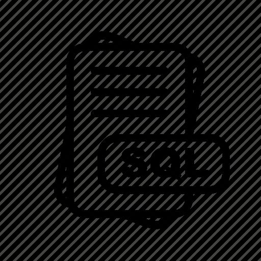 File, format, sql icon - Download on Iconfinder