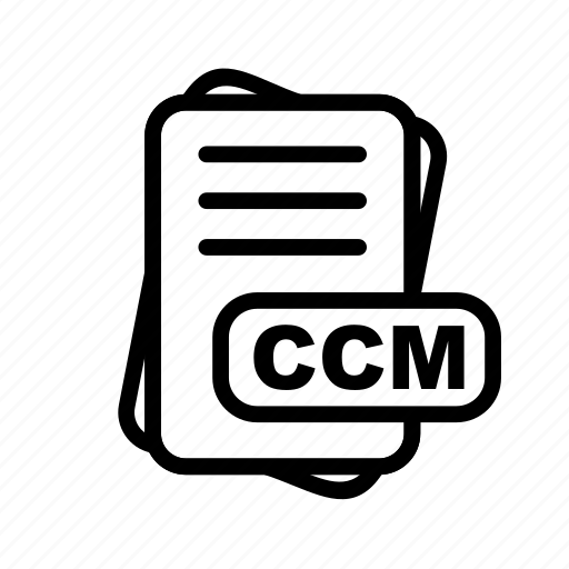 ccm, file, file format, format icon