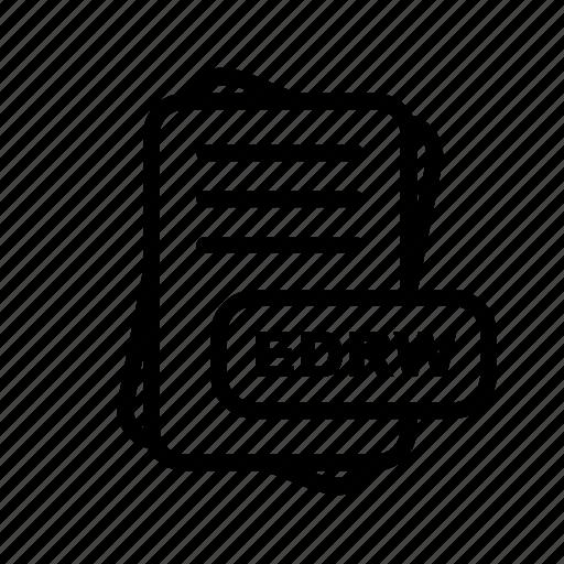 edrw, file, file format, format icon