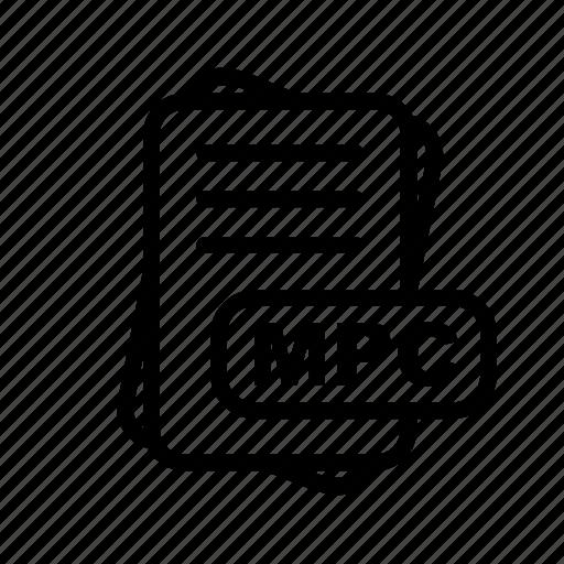 file, file format, format, mpc icon