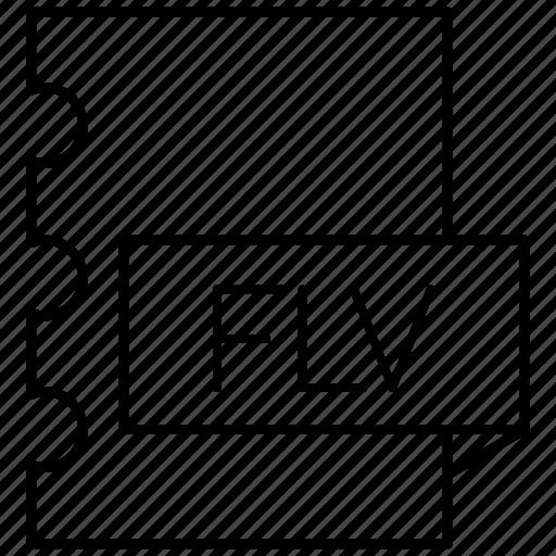 adobe, flash, flv, macromedia icon