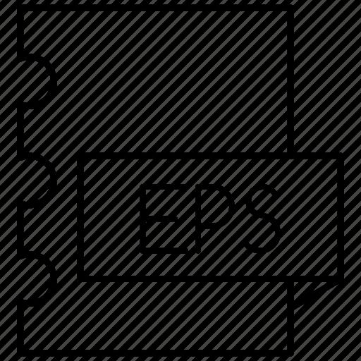 encapsulated, eps, postscript icon
