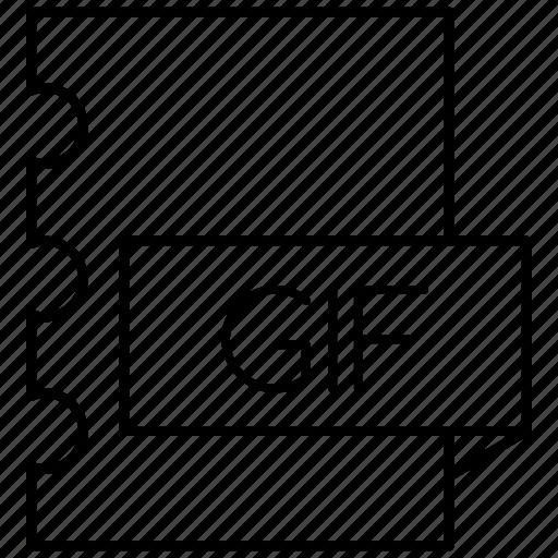 format, gif, graphics, interchange icon